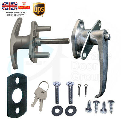 HENDERSON T-Handle Garage Door INTERNAL & EXTERNAL Lock Set Repair Kit Spares