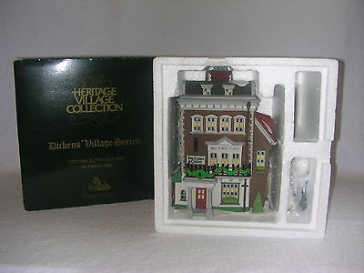Dept 56 Dickens Village Crown & Cricket Inn 1st Edition 1992 Limited New in Box