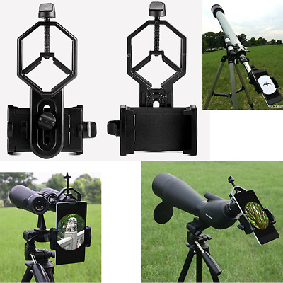 Telescope Spotting Scope Microscope Mount Holder Mobile Phone Camera Adapter HT