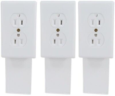 Lot of 3 - Safety Technology Wall Socket Diversion Safe Security Secret Stash