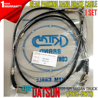 65-72 70 Fit Datsun 520 521 Nissan Pickup Rear Parking Hand Brake Cable Set New