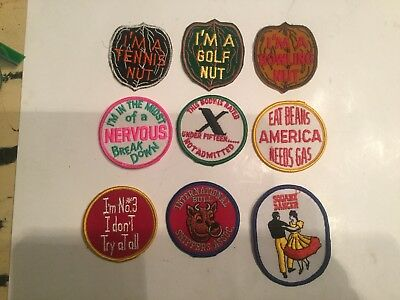 Vintage Lot Of 8 Patches Golf nut ,x Rated Funny