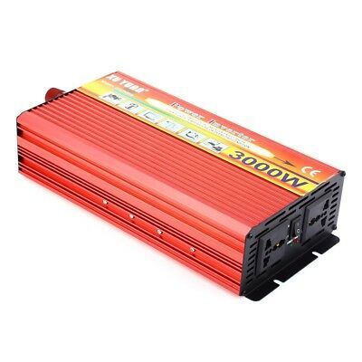 3000W Solar Car Power Inverter DC 24V to AC 220V Modified Sine Wave Charger CH