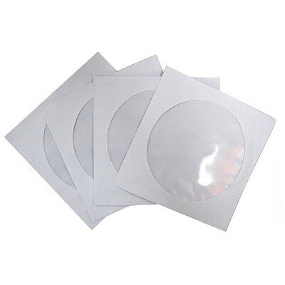 10~100pcs CD DVD Paper Flap Sleeves Clear Window Case Cover Envelope New