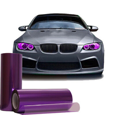 "12"" x 60"" Inch Light Purple Smoke Tint Headlight Taillight Fog Light Vinyl Film"
