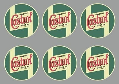 CASTROL Wakefield Decal Set Quality Sticker Vinyl Graphic Logo Adhesive Kit 6Pcs