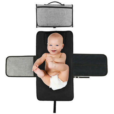 3-in-1 Baby Nappy Diaper Clutch Bag Changing Pad Clutch Mat Foldable Pad Handbag
