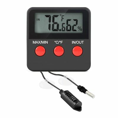 Digital Indoor/Outdoor Thermometer Hygrometer Humidity Gauge With Remote Probe I
