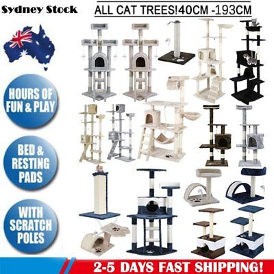 Cat Tree Scratching Post Scratcher Pole Gym Toy House Furniture Multi Level CE
