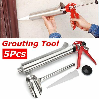 US Stainless Steel Mortar Pointing Grouting Gun Sprayer Applicator Cement Brick