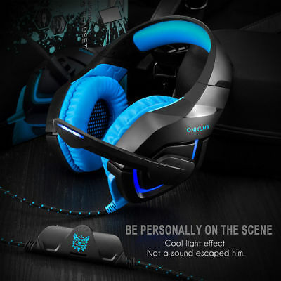 Gaming Headset Music Headphone Mic For PC Laptop PS3 PS4 Xbox 360E one UK Stock