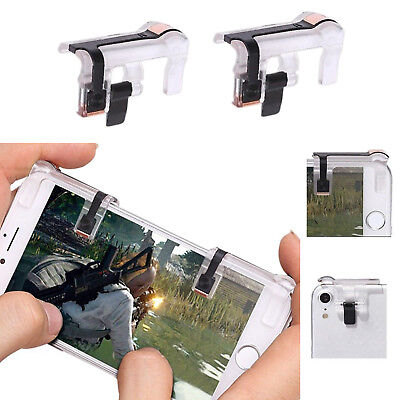 Smart Phone Mobile Gaming Trigger Fire Button L + R Shooter Controller PUBG V5.0