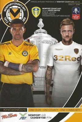 * 2017/18 - NEWPORT COUNTY v LEEDS UNITED (FA CUP - 17th January 2018) *