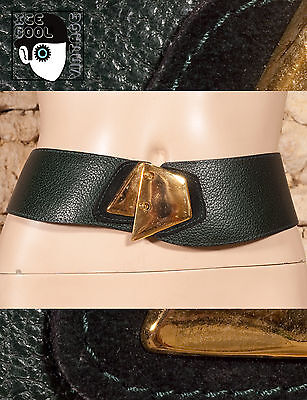 "80s 90s LEATHER FACED BELT WITH SUEDE DETAIL - 29"" to 33"" - (Z)"