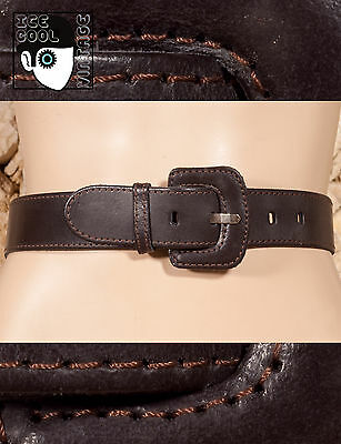 "80s 90s LEATHER BELT - 29"" to 32"" - (Z)"