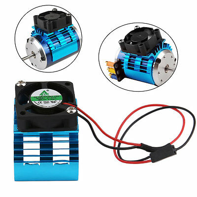Durable Motor Heatsink And Fan Cooling Aluminum Electric Engine RC HSP Model SM