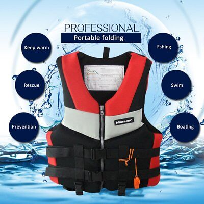 Adults Life Jacket Universal Swimming Boating Skiing Drifting Foam Vest XL XP