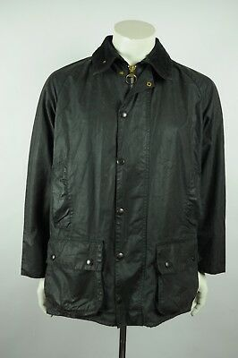 Vintage two royal crest Barbour Beaufor waxed jacket c42 L NAVY