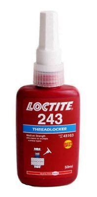 2 PACK Hankel Loctite 243 MEDIUM STRENGTH THREADLOCK  Blue Glue ADHESIVE 50 ML