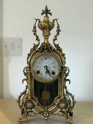 Antique Brass Bracket Clock