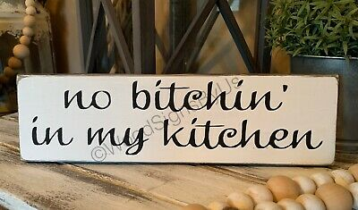 Rustic Kitchen Wood Sign No In My Country Home Decor Farmhouse