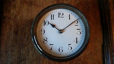 Antique French Brass Cased Drum Clock Insert 8 Day Balance - Spares Or Repair
