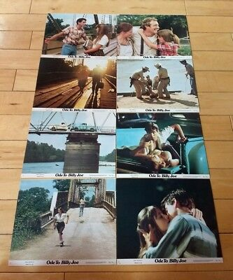 """(8) 1976 """"Ode to Billy Joe"""" complete 8x10 full Lobby Card picture Set ORIGINAL"""