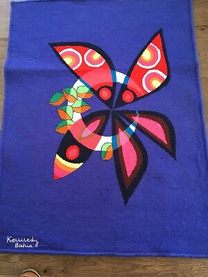 """Patrick Maderos Kennedy Bahia Tapestry Tencica Tapecaria 37x51"""" African - Bahain"""
