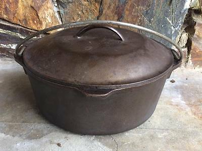 Vintage Lodge #8  Cast Iron Dutch Oven drip lid D3.8D0 made in USA
