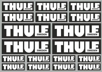 THULE Decal Set Quality Sticker Vinyl Graphic Logo Adhesive Kit 18 Pcs