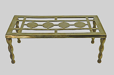 Antique C. 1914 Reticulated Brass Trivet, by William Tonks, English.