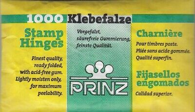 Stamp Prefolded Hinges Pack Of 1000 PRINZ High Quality Lightly Moisten BEST