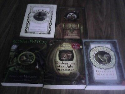 Lot of 5 books: Wicked, Lost, Son of a Witch, Out of Oz, Confessions of an Ugly