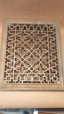 "Antique Bailiey&Tuttle Victorian cast iron heat grate register: 12"" x 14"""