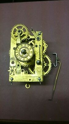 Antique American New Haven Alarm Mantle Clock Movement Incomplete For Spares