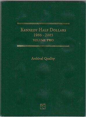 Littleton Coin Folder For US Kennedy Half Dollar 1986-2003 Collection LCF8 New