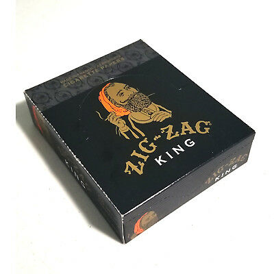 Authentic ZIG ZAG KING SIZEROLLING CIGARETTE PAPER 24 Booklet Full Box