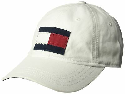 4c3308e827c Tommy Hilfiger Mens Ardin Dad Baseball Cap Classic White One Size 100%  Cotton