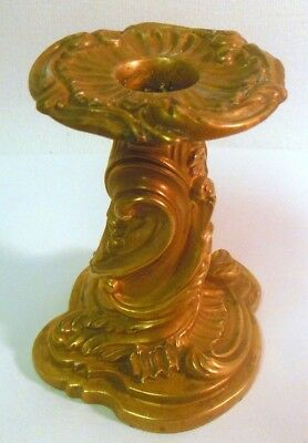 Stunning Vtg Italian Gilt Candle Holder French ROCOCO Style Chateau Villa Chic