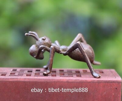 5.5 CM China 100/% Pure purple Copper Handwork life-like insect hornet sculpture