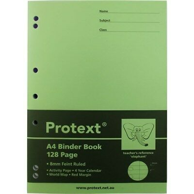Protext A4 PP Cover Binder Book 128 Page Lime Elephant Reference**NB5043**