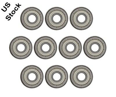 10pcs Flange Ball Bearing F608ZZ 8 x 22 x 7 mm Metric Flanged Bearings NEW