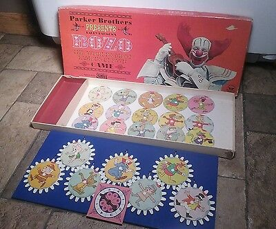 Rare!! Vintage 1960s Parker Brothers Larry Harmon's BOZO The Clown Board Game