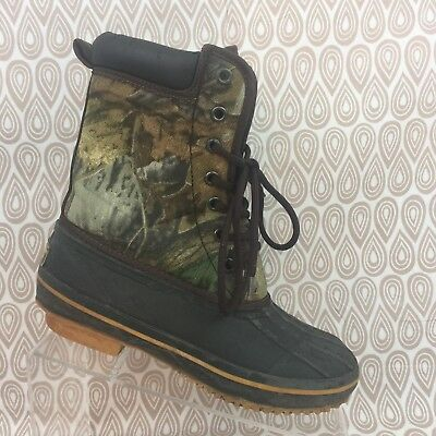 Game Winner Hunting Gear Kids SZ 5 Camo Boots S331