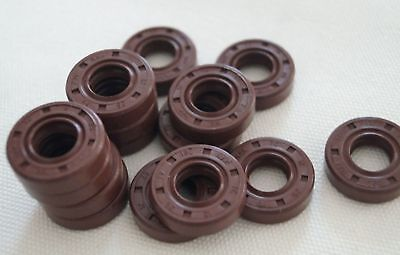 Select Size ID 5 - 15mm TC Double Lip KFM Oil Shaft Seal with Spring [DORL_A]