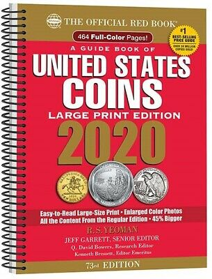 The New 2020 Official Red Book Guide US Coins Price List Large Print Catalog