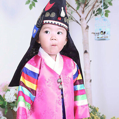 92043f3f7 Hanbok Korean Boys Tradition Pink Clothes Dress 3040 for First-Birthday Baby