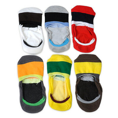 Hot 6 Pairs Men Loafer Boat Sock Nonslip Liner Low Cut Invisible Cotton Socks