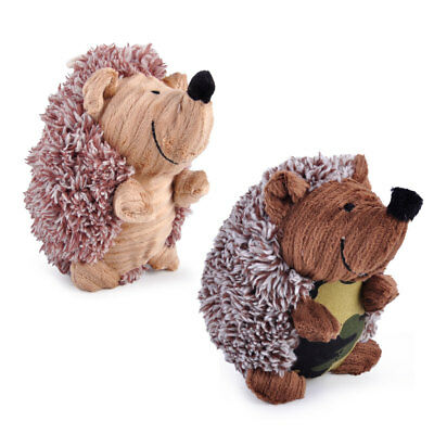 Hot Hedgehog Shape Plush Soft Squeaky Pet Dog Toy Puppy Cat Sound Chew Squeaker