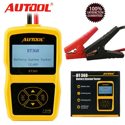 Autool BT360 Auto Battery System Tester Lead Acid Charging Tester For 12V Car